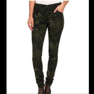 Joe's Jeans Green Print The Skinny
